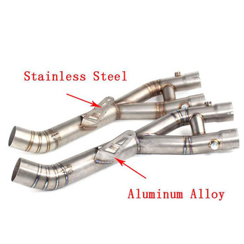 Motorcycle Exhaust For YAMAHA YZF R1 Exhaust Middle Pipe Link Pipe Motorbike Connect Middle Pipe YZF-R1 2015 2016 2017 Exhaust