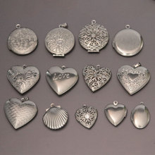 Wholesale 20pc/lot DIY Photo Frame Stainless Steel Charms Locket Pendant Jewelry Making Family Memories Women Festival Gift