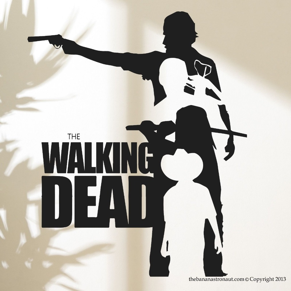 Buy walking dead vinyl wall sticker for Mural walking dead