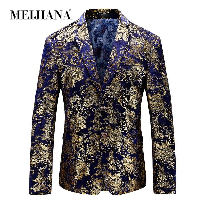 MEIJIANA Luxury Men Tuxedo Blazer Slim Fit ชุดที่ไม่ซ้ำกัน Mens ชายชุดแจ็คเก็ตงานแต่งงานแสดงชุดเครื่องแต่งกาย-ใน เสื้อเบลเซอร์ จาก เสื้อผ้าผู้ชาย บน   1