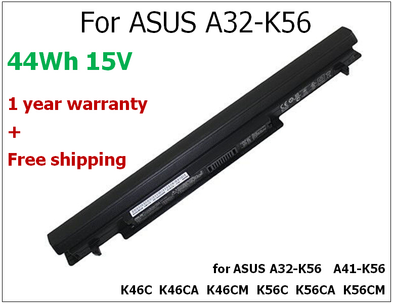 ФОТО 2950mAh/44WH laptop battery for ASUS A32-K56 A41-K56 K46C  K46CA  K46CM  K56C  K56CA  K56CM A56E A56CA A56CM S405 S505
