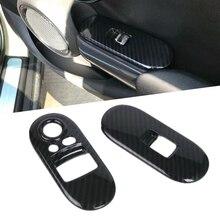 ABS di Stile Fibra di Carbonio per Porte E Finestre di Controllo Coperture per BMW MINI Cooper S 3DR F56 Auto Modanature interne Corrimano Della Copertura Autoadesivo