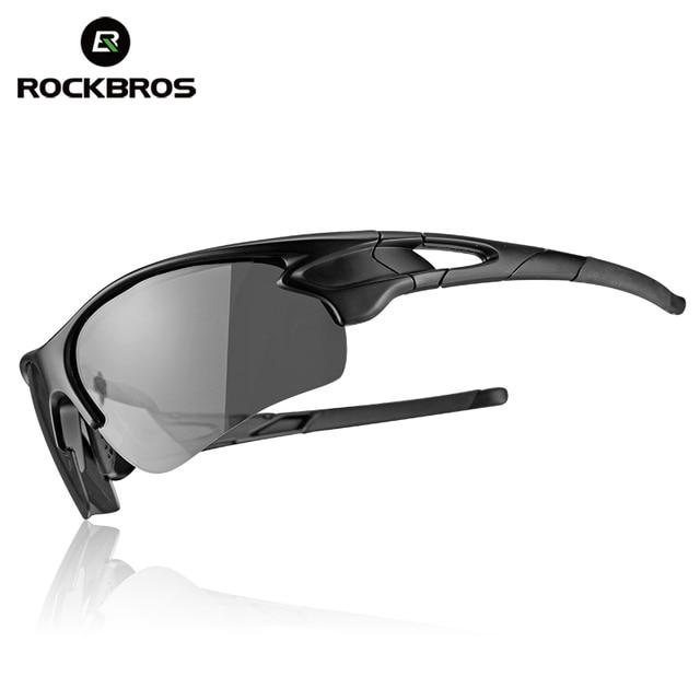 9177399b4d5278 ROCKBROS Hommes Polarisées lunettes de Soleil Vélo Photochromiques Lunettes  Pour Femme Lunettes de Randonnée Lunettes De