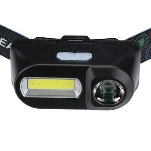 Image 2 - XPE COB LED פנס 6 מצב פנס רצועות פנסי מתכוונן נטענת ראש לפיד להשתמש 18650 סוללה עבור קמפינג