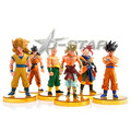 Free Shipping Dragon Ball Figures with Yellow Bases The 50th PVC Action Figure Model Collection Model Toy (6pcs per set)