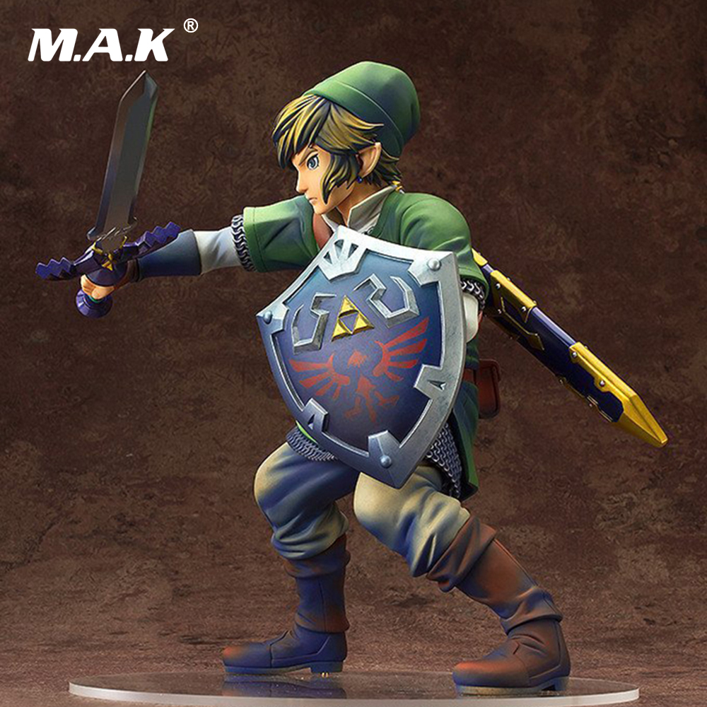 The Legend of Zelda Skyward Sword Link Painted PVC Action Figure Collectible Model Kids Toys Doll 20CM anime the legend of zelda 2 a link between worlds link figma 284 pvc action figure collectible model kids toys doll 10 5cm