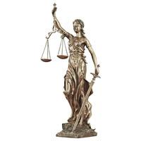46.5cm Greece Justitia Justice Fair Goddess Statue Themis Art Sculpture Resin Craftwork Retro Home Decorations R921