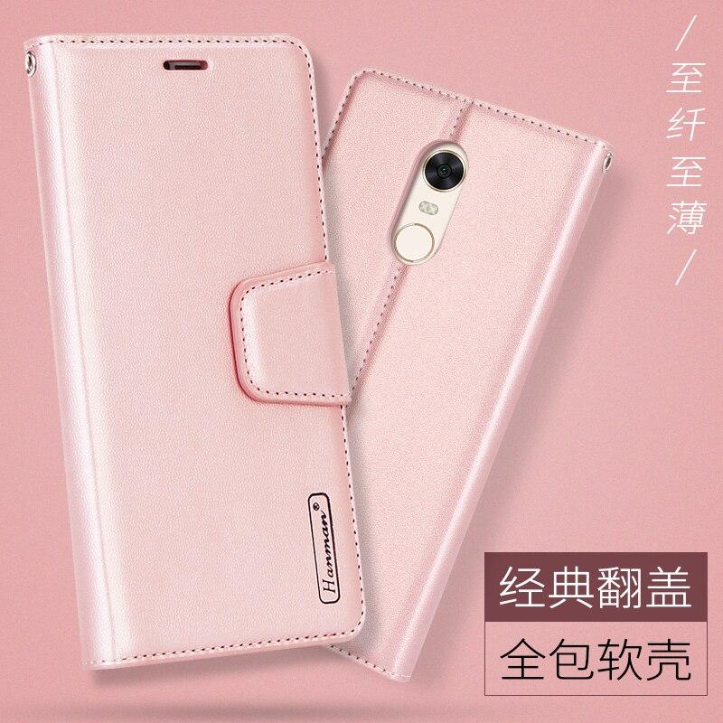 Hanman Sheepskin Leather Cases For Xiaomi Redmi 5 Case Flip For Redmi 5 Plus Cover Book Card Holder Stand Wallet Coque Funda Bag