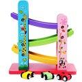 Voando carro de madeira brinquedos educativos brinquedos pista para crianças bebê montessori matemática brinquedos jogo de aprendizagem brinquedos divertidos brinquedos do presente do bebê