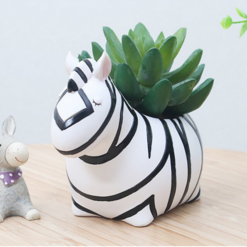 Resin Flowerpot Plantspot Garden Pots Planters Kawaii Corgi Jardin Bonsai Desk Succulent Flower Pot Home Decoration Newest