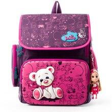 Delune All Series Girls School Backpacks Orthopedic Children School Bags Cartoon Bear Primary Satchel Knapsack Mochila for Girls