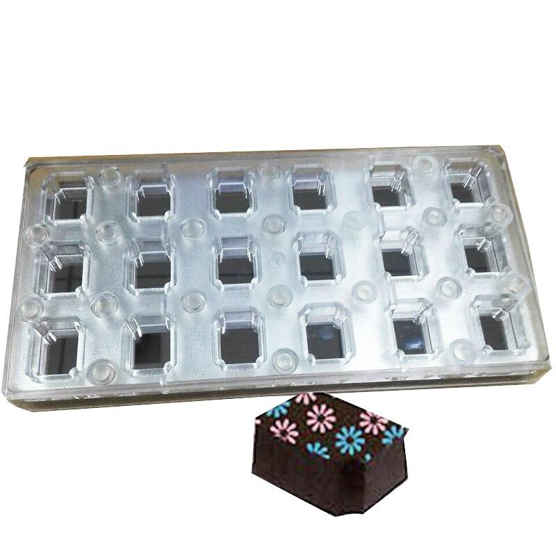 18 квадратных Магнитная поликарбонат шоколада пресс для съедобные передачи листов