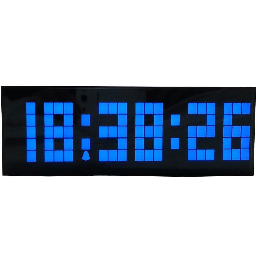 Niebieska dioda LED odliczający zegar cyfrowy z funkcją drzemki - Wystrój domu - Zdjęcie 3