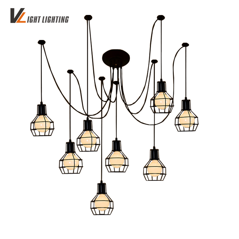 Nordic Style Vintage Lamp Chandeliers Ceiling With Abajur Para Sala Lamps For Living Room Industrial Abajour Lamp Loft  LampNordic Style Vintage Lamp Chandeliers Ceiling With Abajur Para Sala Lamps For Living Room Industrial Abajour Lamp Loft  Lamp
