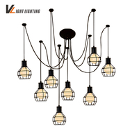 Nordic Style Vintage Lamp Chandeliers Ceiling With Abajur Para Sala Lamps For Living Room Industrial Abajour Lamp Loft Lamp