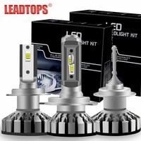 LEADTOPS Mini Car Headlight Bulbs H7 H4 LED H11 H1 H3 9005 9006 9012 50W 6000K