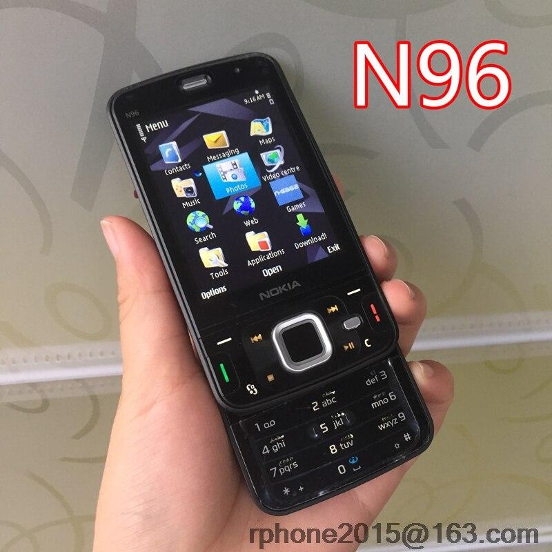 Цена за Оригинал Nokia N96 Mobile Phone Unlocked 3 Г WI FI 5MP Смартфон Восстановленное Английский клавиатура и Один год гарантии