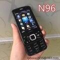 Original nokia n96 mobile desbloqueado teléfono 3g wifi 5mp smartphone reformado teclado inglés y un año de garantía