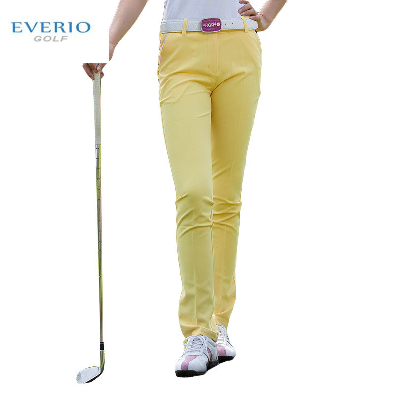 EVERIO women golf sports pants summer high stretch slim breathable golf trousers spring quick-drying lady golf Sportswear pants