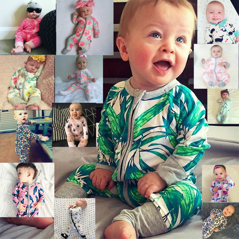 1pcs Newborn Baby Girl Fashion Rose Flower Clothes Romper jumpsuit Playsuit Bebe Girls Outfits 0-24M Jumpsuit Playsuit Clothes