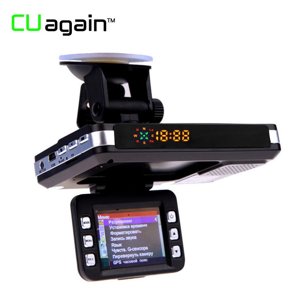 CUagain C77 3 in 1 Car DVR Camera GPS Radar Detector Warning Video Recorder Loop Recording Dash Camera In Car Video Camera Carro