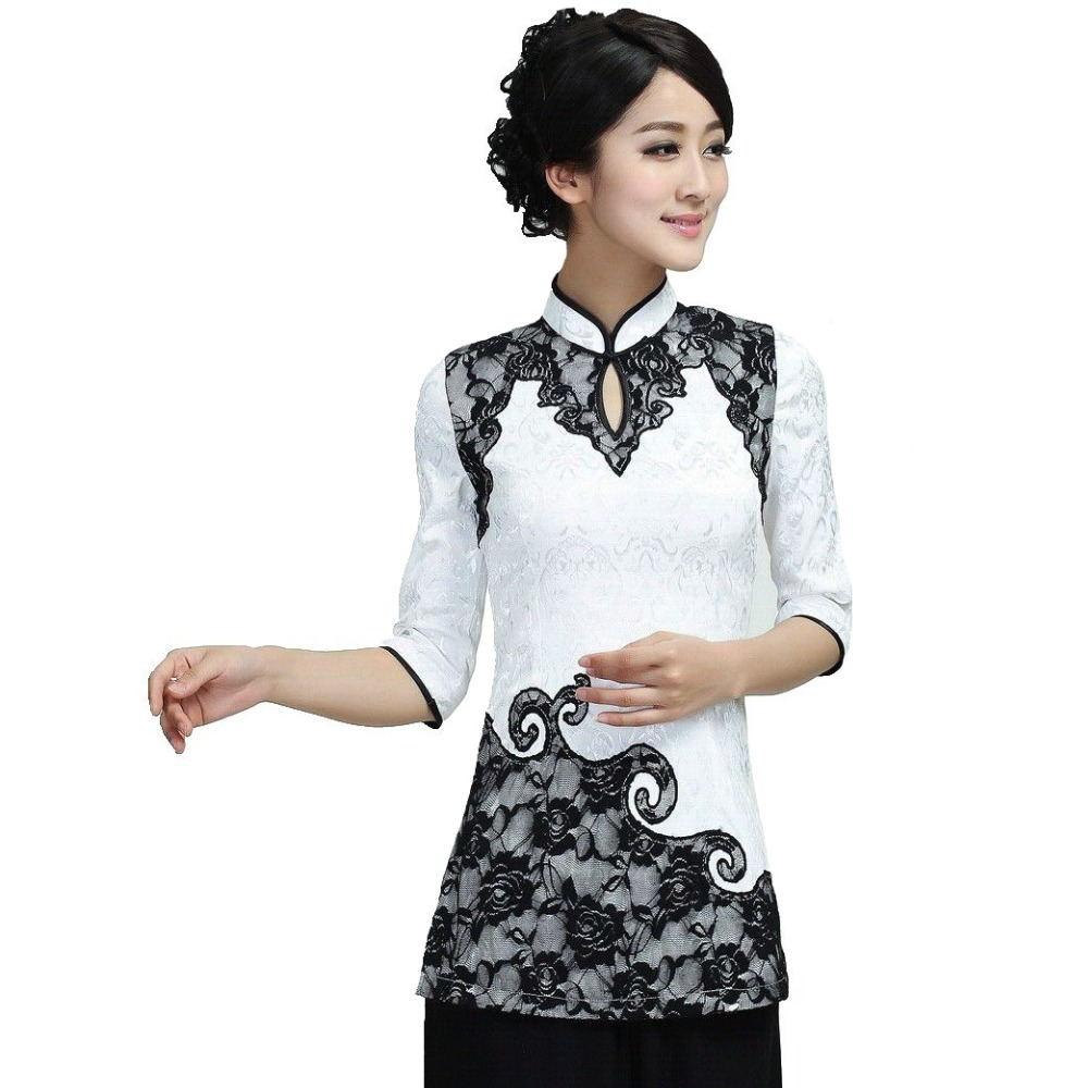 Hot Sale White Women's Shirt Tops Stylish Summer China ...
