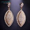 Mechosen oliveiras forma cz zirconia brincos para mulheres brincos grandes ouro joias piercing aretes partido da jóia do casamento