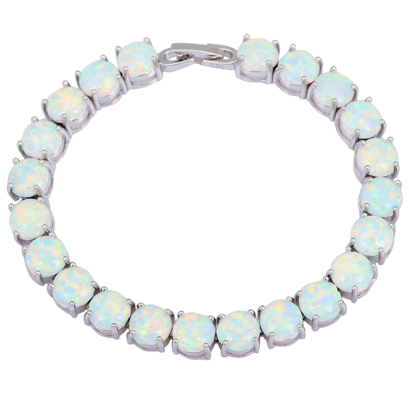 Garilina Glam Luxe Mysterious Silver Brown Red Pink Blue White Fire Opal Bracelets bangles for teen girls B3001