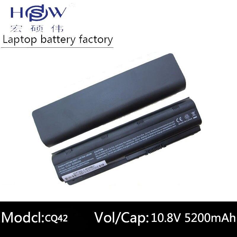 HSW 5200 mah batterie d'ordinateur portable pour HP CQ62-400 CQ62-a 431 435 630 631 635 636 650 655 Envy 15- 1100, g32, G72t, G42, G56, G62, G72, DV3-4000