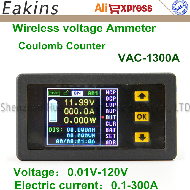 VAC1300A Farbe Multifunktions digital LED power meter Monitor ...