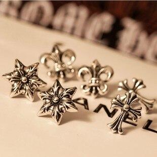 Min. order $10 ! Classic Jesus Skull / Skeleton Cross Star Earrings Fashion Jewelry For Men Women. Free shipping!