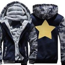 STEVEN UNIVERSE STAR Print Harajuku Mens Sportswear Hoodie 2019 Winter Fleece Thick Hoody For Men Sweatshirts Punk Kpop Hoodies
