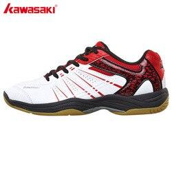 كاواساكي المهنية أحذية كرة الريشة 2017 تنفس مكافحة زلق أحذية رياضية للرجال النساء أحذية رياضية K-063