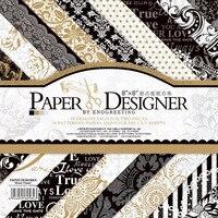 36sheets Lot Vintage Black Gold Floral Pattern Creative Papercraft Art Paper Handmade Scrapbooking Kit Set Books