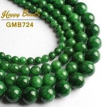 """Натуральное зеленое облако нефрит халцедон драгоценный камень Бусины круглые свободные 1"""" прядь 6 8 10 12 мм для самостоятельного изготовления ювелирных изделий браслет ожерелье"""