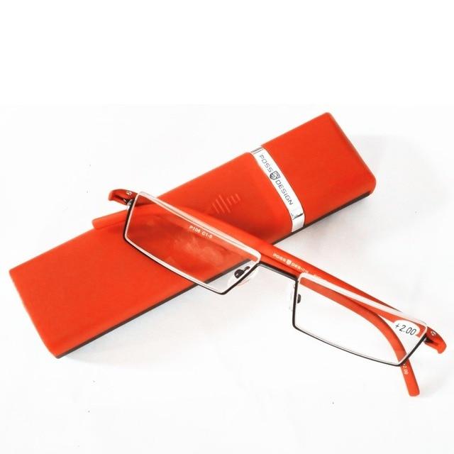 New German High quality TR90 Frame Reading Glasses Black Red Color Half Frame Reader Eyeglasses +1/+1.5/+2/+2.5/+3/+3.5