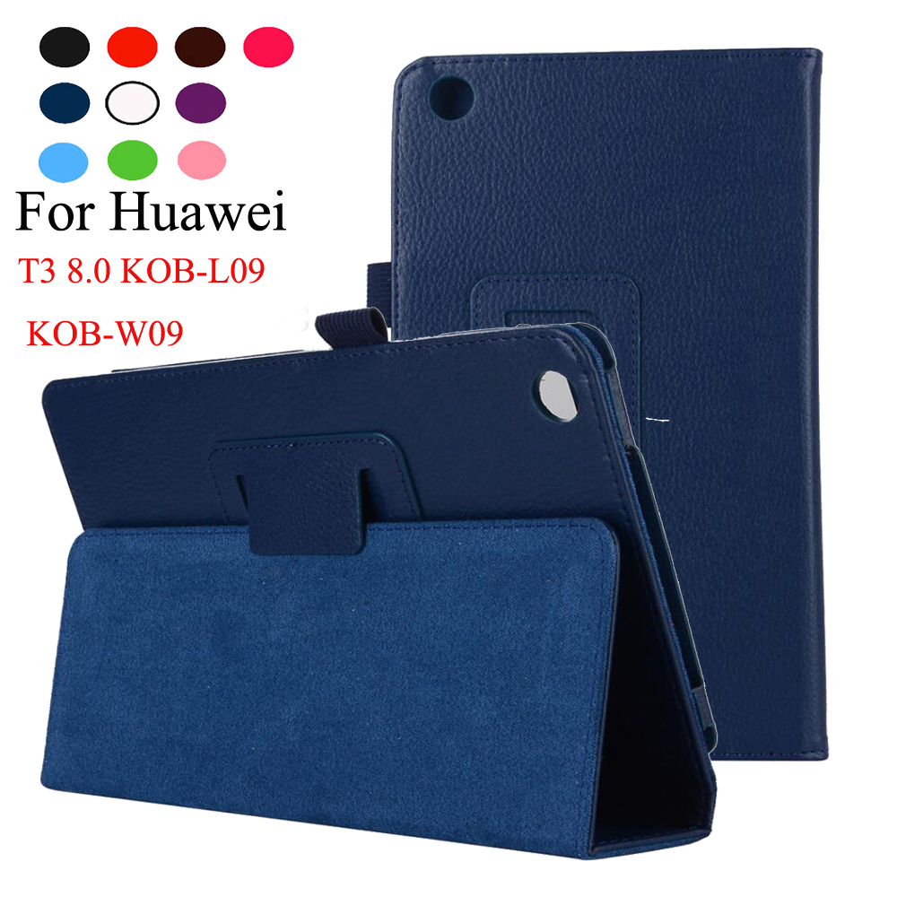 For Huawei MediaPad T3 8.0 inch KOB-L09 KOB-W09 Honor play Tablet PU Leather Stand Flip Cover Case