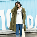 2017 BF Coreano com capuz blusão feminino soltos mulheres de grande porte mm de gordura nova primavera no longo casaco de manga