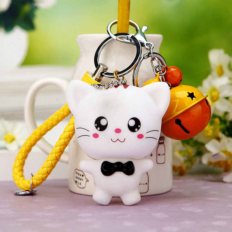 Pro acme cristal strass metal gato chaveiro presentes novidade casal chaveiro carro chaveiro feminino hangbag encantos pingente pwk0393