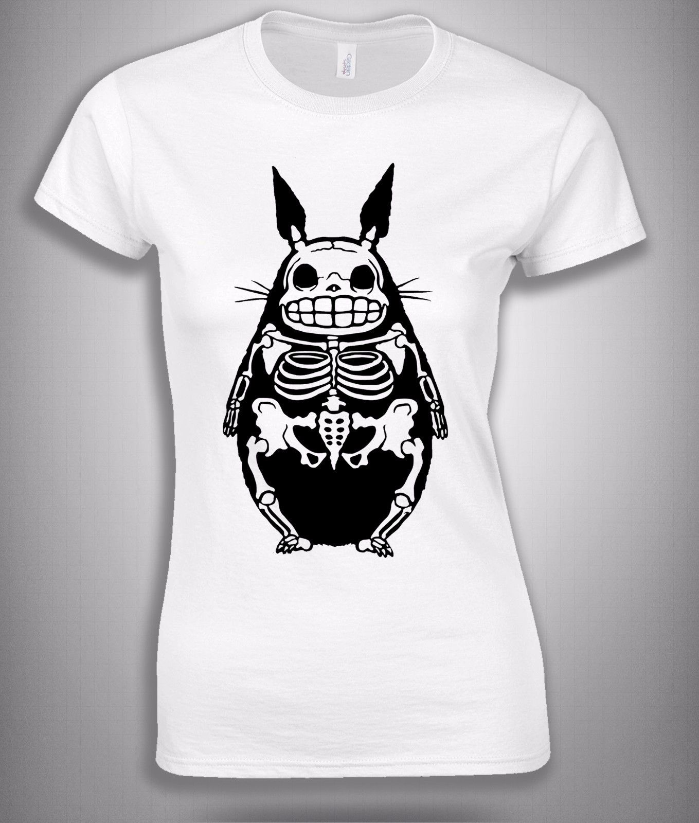 c6c015b8 Skeleton Totoro Funny Anime T Shirt In White Woman Style Size S,M,L,XL  Printed 2017 Summer Funny T Shirts 2017 Women Fashion-in T-Shirts from  Women's ...