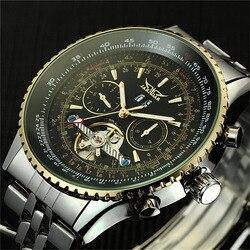 Luksusowy zegarek męski dzień/miesiąc zegarki mechaniczne z tourbillonem automatyczny męski zegarek na rękę z własnym wiatrem