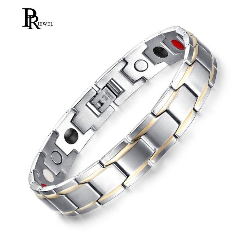 Zielsetzung Elegante Magnetische Therapie Armband Schmerzen Retherapy Heilung Arthritis Schlanke Manschette Armbänder Männer Schmuck Taille Und Sehnen StäRken Hologramm-armbänder
