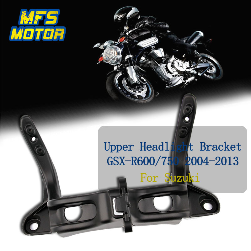For 04-13 Suzuki GSXR600 GSXR750 GSXR GSX-R 600 750 Upper Fairing Stay Front headlight Bracket 2004 2005 2006 2007 2008-2013 motorcycle accessories custom fairing screw bolt windscreen screw for suzuki gsxr 600 750 gsx r 600 750 2006 2007 2008 2009 2010