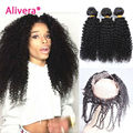 Kinky Curly Virgin Hair With Frontal Brazilian Virgin Hair With Frontal 360 Lace Frontal With Bundle Kinky Curly Hair With Front