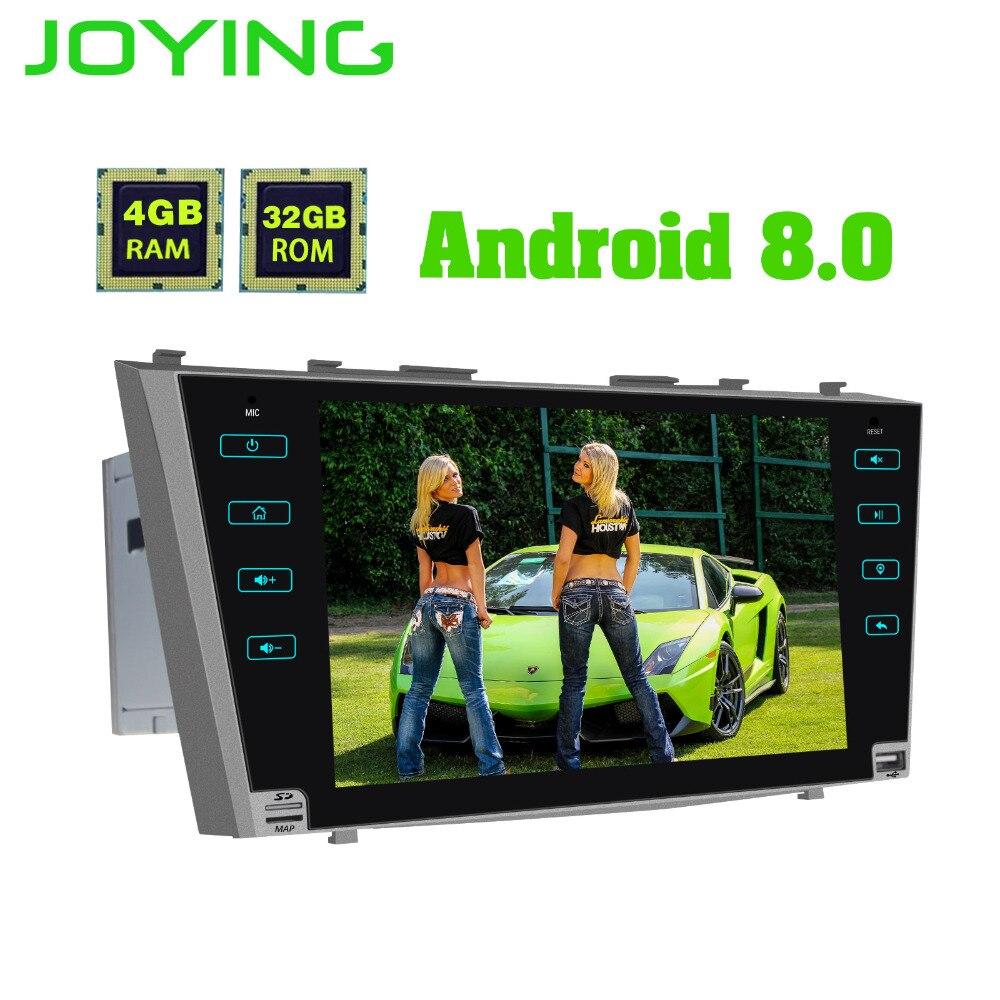 JOYING 2 din Android 8.0 Car DVD GPS radio 4 gb di RAM Octa Core HD Stereo schermo di tocco di Bluetooth per toyota Camry/Aurion 2007-2011