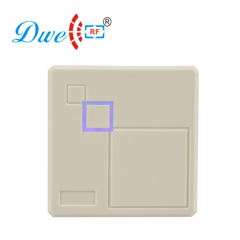 DWE CC RF access control card reader white high frequency 13.56mhz ic card reader dwe cc rf 2017 hot sell 13 56mhz 12v wg 26 rfid outdoor tag reader for security access control system