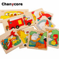 Baby Learning Educational Wooden Toys Multiple Puzzle Jigsaw Board Animal Dinosaur Lion Bear Matching Enlightenment Gifts 4038