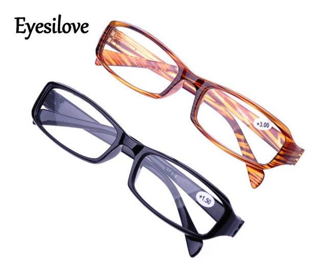 Eyesilove Retail 1pcs cheap plastic unisex reading glasses presbyopia glasses lenses power +1.0 to +4.0