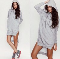 Autumn And Winter Ebay Hot Selling With A Hood Irregular Plus Velvet Sweatshirt
