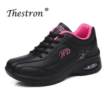 2019 Thestron Women Running Shoes Black White Fitness Sneakers Comfortable Female Thick Sole Fashion Ladies Trainers Air